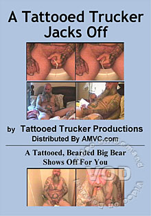 A Tattooed Trucker Jacks Off Box Cover