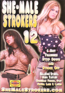 She-Male Strokers 12 Box Cover
