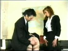 English Spanking Classic #24 - Big Bottoms Girls Caned Clip 2 00:27:40