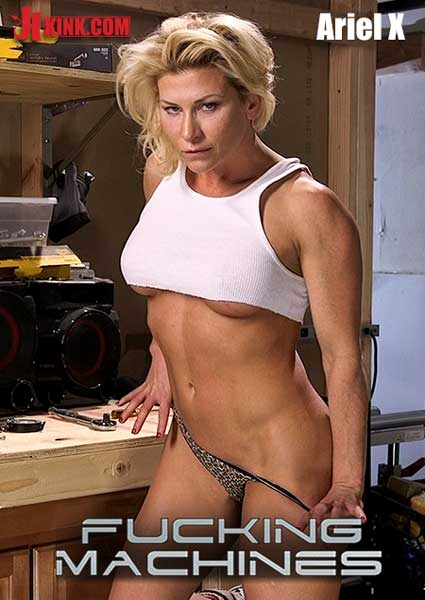 Fucking Machines - Muscled Bombshell DP'd By Machine Dildos Box Cover